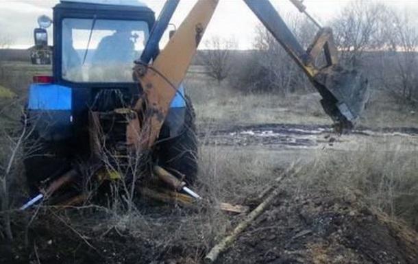 На Луганщине демонтировали трубопровод в РФ