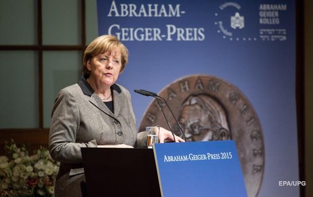 Меркель удостоена премии за заслуги перед иудаизмом