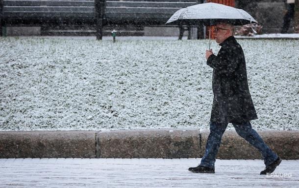 Украину накроют дожди с мокрым снегом