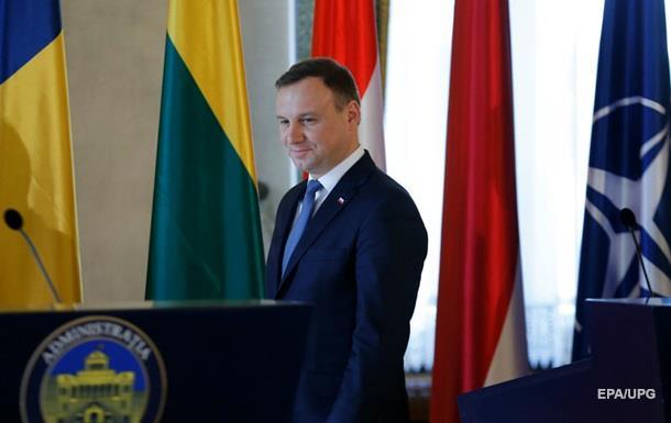 Президент Польши Дуда прибыл в Украину