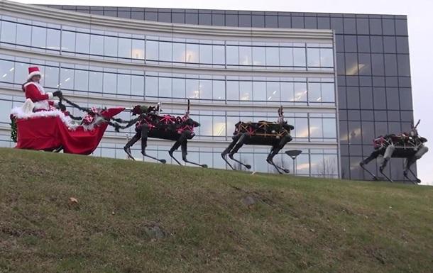 Санта и робоолени: в США сняли необычный ролик