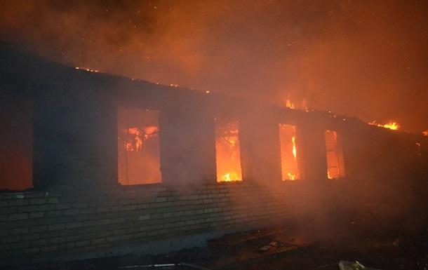 Под Одессой горела воинская часть