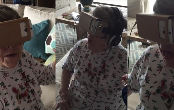 старушка и VR-очки
