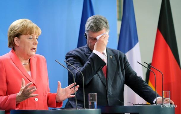 Порошенко и Меркель согласовали позиции накануне  нормандских  переговоров