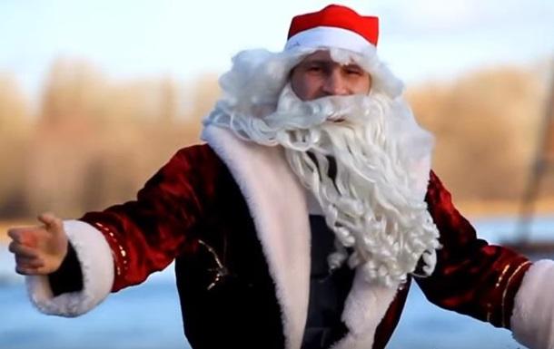 Кличко экстремально поздравил с Новым годом