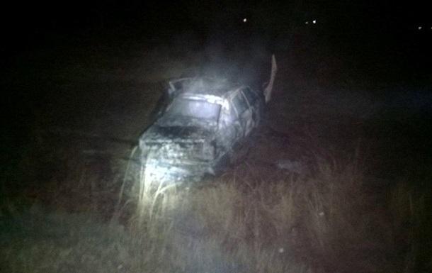 На трассе Киев-Чоп сгорело авто