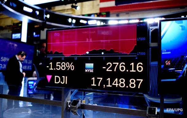 Основные индексы на биржах США рекордно упали