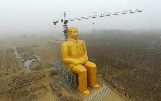 В Китае установили 36-метрового золотого Мао
