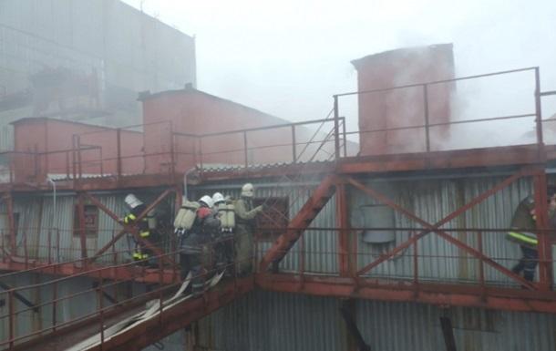 В Запорожье загорелась электростанция