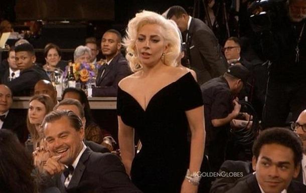 Ди Каприо и Леди Гага на церемонии Золотой Глобус