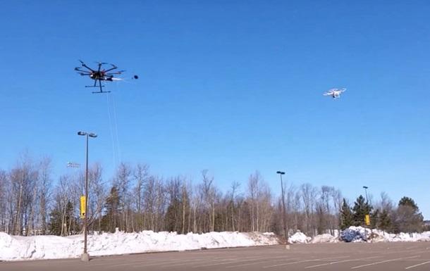 полет дронов