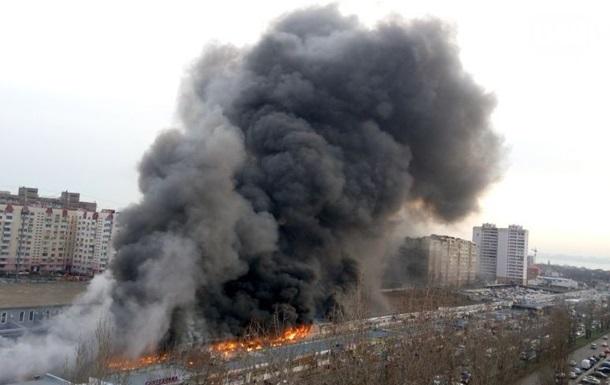 Пожар на рынке в Одессе: есть пострадавшие