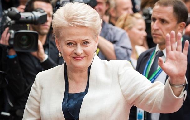 Грибаускайте оценила шансы Украины получить безвизовый режим с ЕС