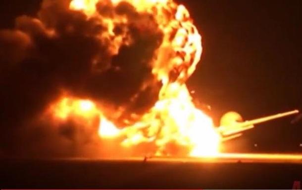 Появилось видео крушения российского бомбардировщика Ту-95