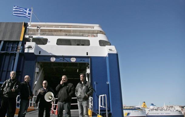 В Греции бастуют моряки