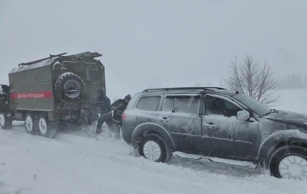 В четырех областях Украины ограничено движение