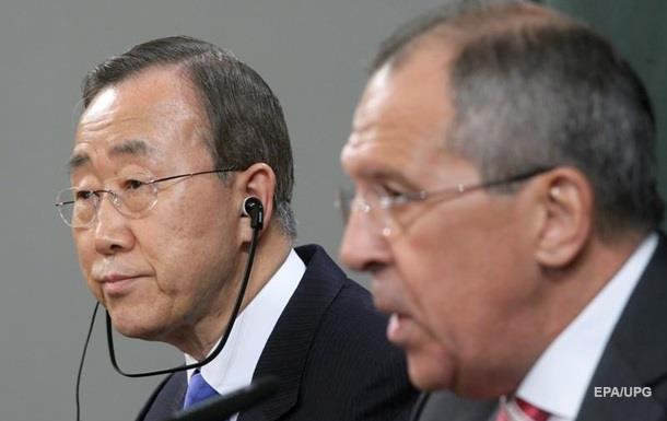 Лавров и Пан Ги Мун обсудили ситуацию в Донбассе