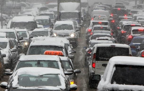 Пробки в Киеве составляют семь балов