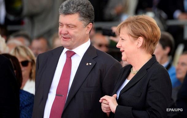 Порошенко едет на переговоры к Меркель