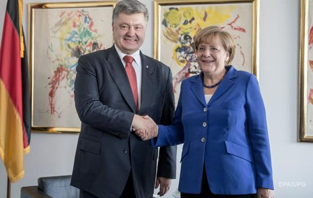 Порошенко анонсировал совместное заявление с Меркель