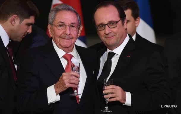 Кубинский лидер прибыл во Францию впервые с 1995 года