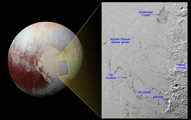 NASA выложило фото  плавающих холмов  Плутона