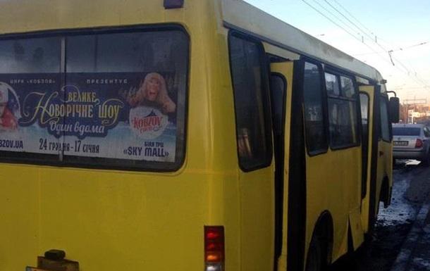 В Киеве маршрутка загорелась на ходу