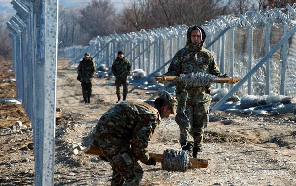 Македония строит новый забор на границе с Грецией