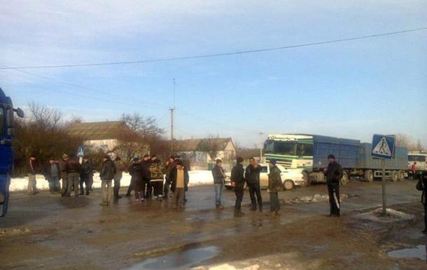 В Николаевской области жители перекрыли трассу