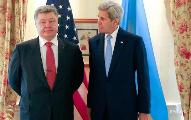 Керри призвал Порошенко к единству среди власти