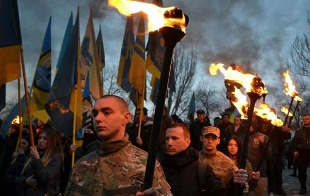 В Одессе прошел факельный марш националистов