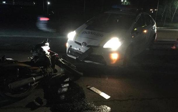 В Мукачево патрульная полиция сбила дедушку на мотоцикле
