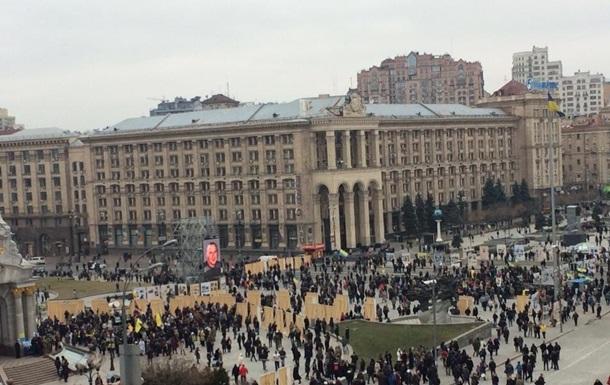Активисты перекрыли Крещатик, собираются ночевать