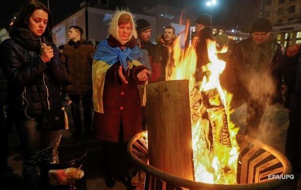 Число митингующих на Майдане уменьшилось, но акция продолжается