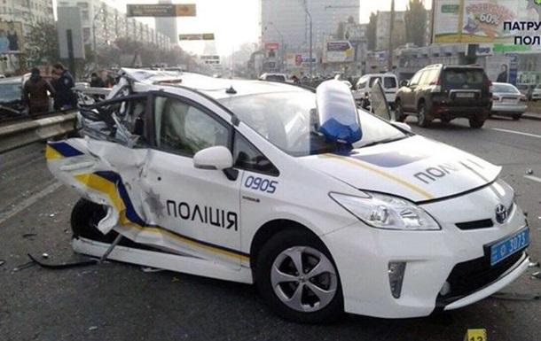 В полиции Киева рассказали, сколько авто разбили патрульные