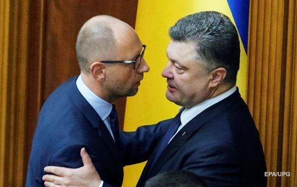 Яценюк с заседания Кабмина отправился к Порошенко