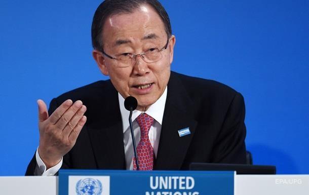 Пан Ги Мун призвал мировых лидеров активнее добиваться мира в Украине