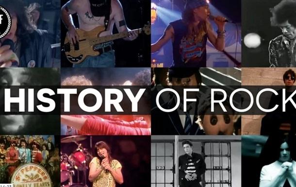 Всю историю рока показали в 15-минутном видео
