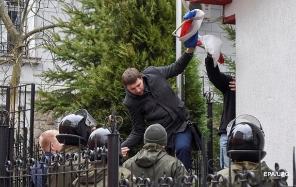 Во Львове завели дело за сожжение флага РФ