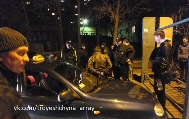 В Киеве патрульные гонялись за таксистом по микрорайону «Троещина»