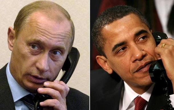 Обама і Путін обговорили ситуацію в Україні та Сирії
