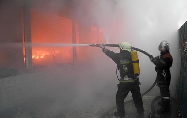 В Донецкой области более двух часов тушили пожар на птицефабрике