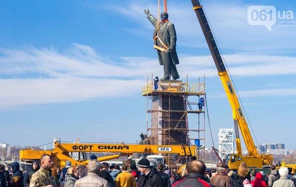 Снос Ленина в Запорожье