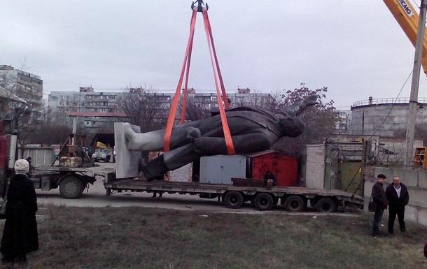 В Запорожье показали  кладбище  сваленного Ленина