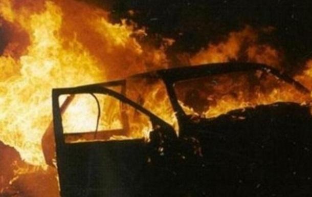 В Запорожье водитель сгорел в своем авто