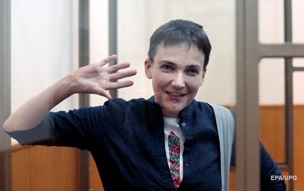 """Савченко прервала вердикт песней """"Горела шина"""""""
