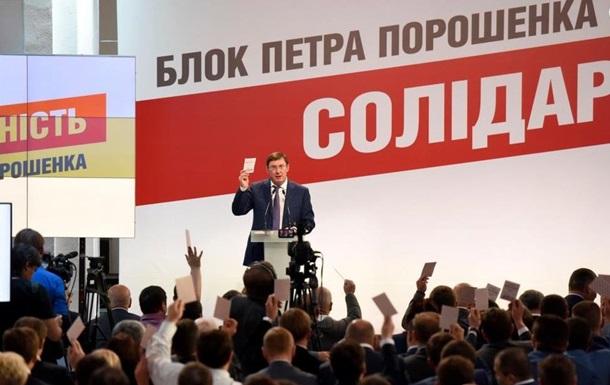 Зі списку партії Порошенка виключили 13 осіб