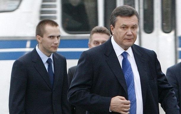 Сім я Януковича судиться з Україною за витрати на адвокатів