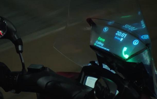 Samsung встроила дисплей в мотоцикл