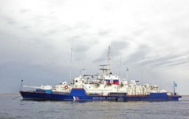 У Мариуполя заметили российский военный корабль